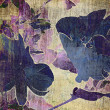 Stock Photo: Art floral grunge graphic background