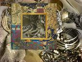 Konst foto ram färgstarka bakgrund — Stockfoto