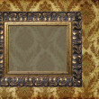 Art frame on pattern paper — Stok fotoğraf