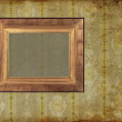 Art frame on pattern paper — Photo
