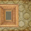 Art frame on pattern paper — Stock Photo