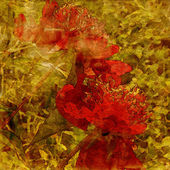 Art grunge floral vintage background texture — Stock Photo