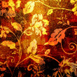 Art floral grunge background - Stock Photo