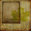 Art frame on wallpaper - Stock Photo