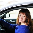 Happy teen driver — Stock Photo