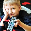 Boy watching tv - Foto Stock