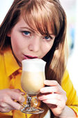Enjoying of coffee — Stock Photo