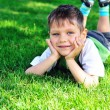 Boy on meadow — Stock Photo #7260368