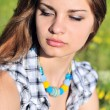 Tender girl wearing necklace — Stock Photo #7260377