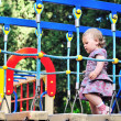 Baby girl on playground — Stock Photo