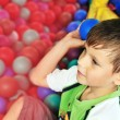Fun in ball pool — Stock Photo