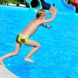 Jump to pool — Stock Photo