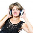 Enjoying of music — Stock Photo