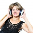 Stock Photo: Enjoying of music
