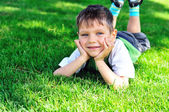 Boy on meadow — Stock Photo