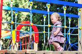 Baby girl on playground — Stock Photo
