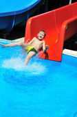From slide to water — Stock Photo