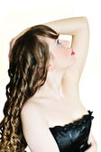 Curly longhaired girl — Stock Photo