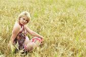 Zwangere meditatie — Stockfoto