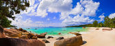 Panorama of beach Anse Lazio, Seychelles — Stock Photo