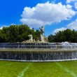 The fountain of Neptune in Madrid, Spain — Stock Photo