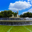 The fountain of Neptune in Madrid, Spain - Stock Photo