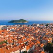 Panorama of Dubrovnik in Croatia - Stock Photo