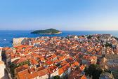 Panorama of Dubrovnik in Croatia — Stock Photo