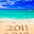 Numbers 2012 on beach - Stock Photo