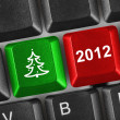 Royalty-Free Stock Photo: Computer keyboard with Christmas keys