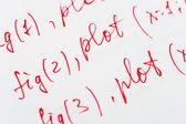 Mathematics formula on paper — Stock Photo