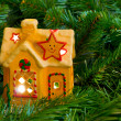 Royalty-Free Stock Photo: Lighting house and christmas tree