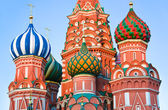 Saint Basil Cathedral on Red square, Moscow at sunset — Stock Photo