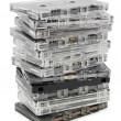 Stack of audio cassettes — Stock Photo #7713530