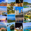 Stack of Croatia travel photos — Stock Photo
