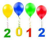 воздушные шары и 2012 — Стоковое фото