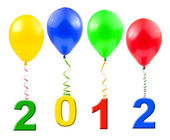 Balloons and 2012 — Stock Photo
