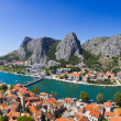 Panorama of town Omis in Croatia — Stock Photo