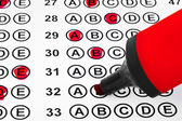Značka a test — Stock fotografie