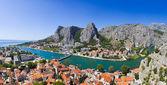 Panorama of town Omis in Croatia — Stock Photo