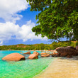 Beach Anse Lazio at island Praslin, Seychelles - Stock Photo