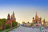 Red square, Moscow at sunset — Stock Photo
