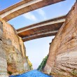 Corinth channel in Greece - Stock Photo