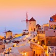 Santorini sunset (Oia) - Greece — Stock Photo