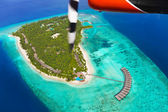 Tropical island at Maldives — Stock Photo