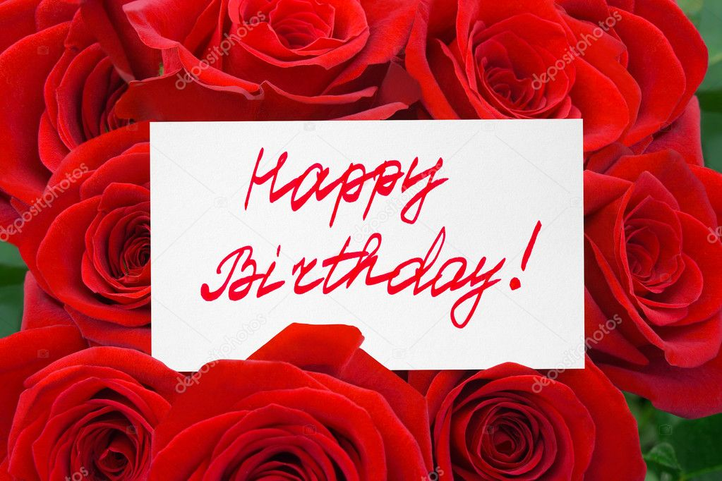 Happy Birthday Roses Card Roses And Card Happy Birthday