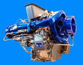 The engine under the blue background — Stock Photo