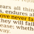 Royalty-Free Stock Photo: Love never fails