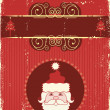 Vintage Christmas card for text - Stock Vector