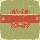 Tarjeta de navidad vintage para texto — Vector de stock